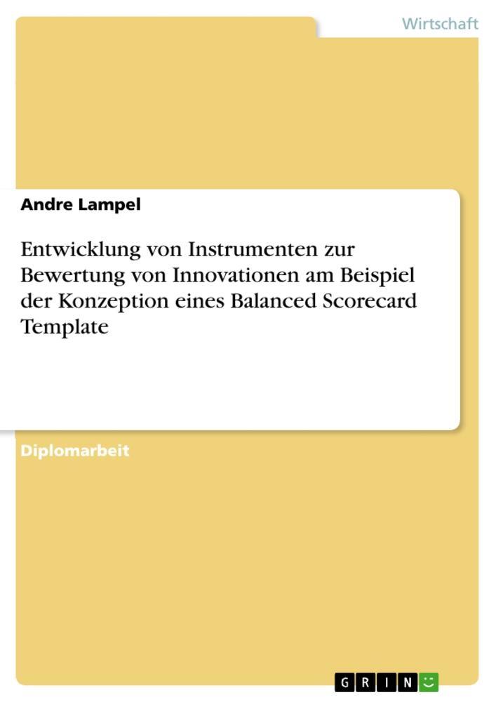 Entwicklung von Instrumenten zur Bewertung von Innovationen am Beispiel der Konzeption eines Balance als Buch (kartoniert)