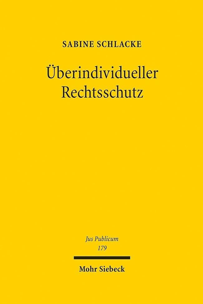 Überindividueller Rechtsschutz als Buch (gebunden)