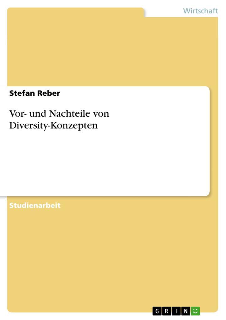 Vor- und Nachteile von Diversity-Konzepten als Buch (kartoniert)