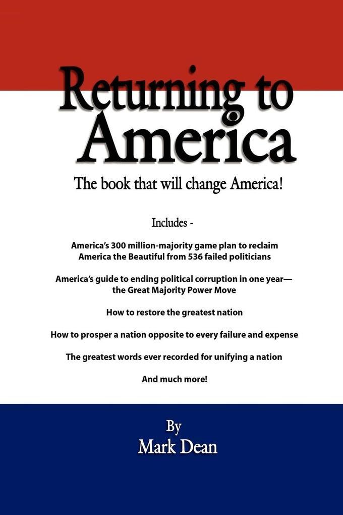 Returning to America als Taschenbuch