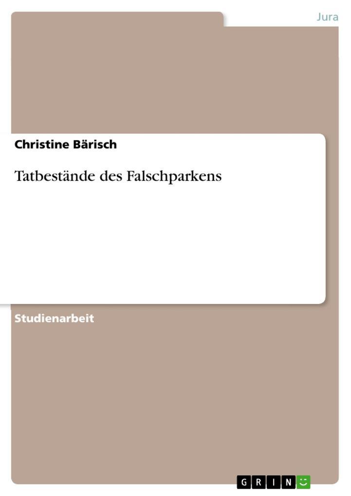 Tatbestände des Falschparkens als Buch (kartoniert)