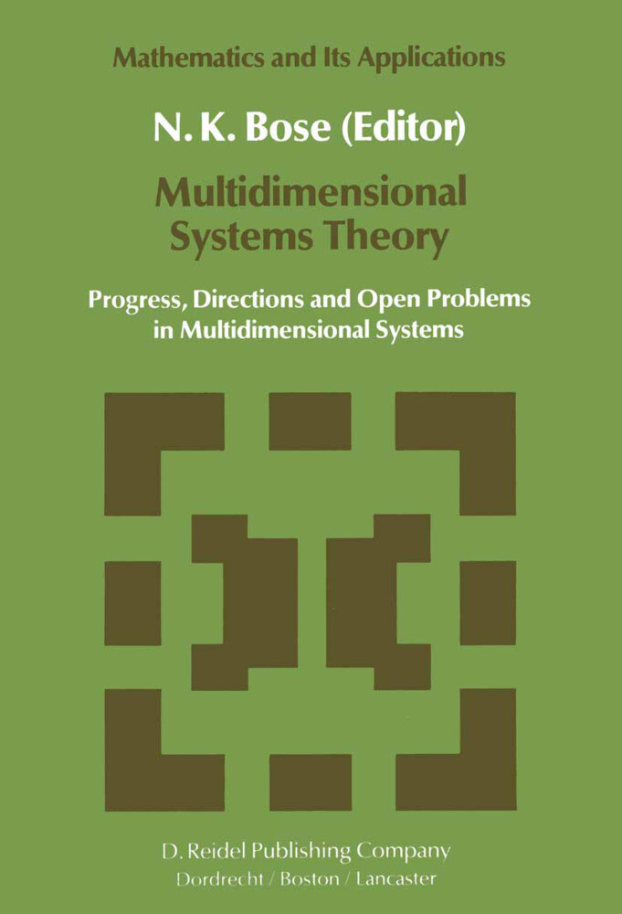 Multidimensional Systems Theory als Buch (gebunden)