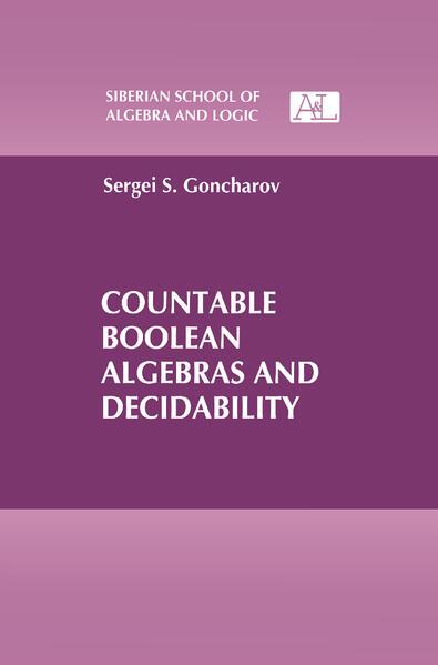 Countable Boolean Algebras and Decidability als Buch (gebunden)