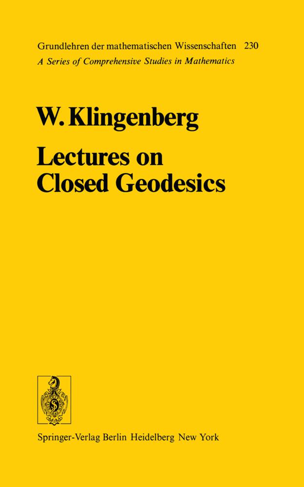 Lectures on Closed Geodesics als Buch (gebunden)