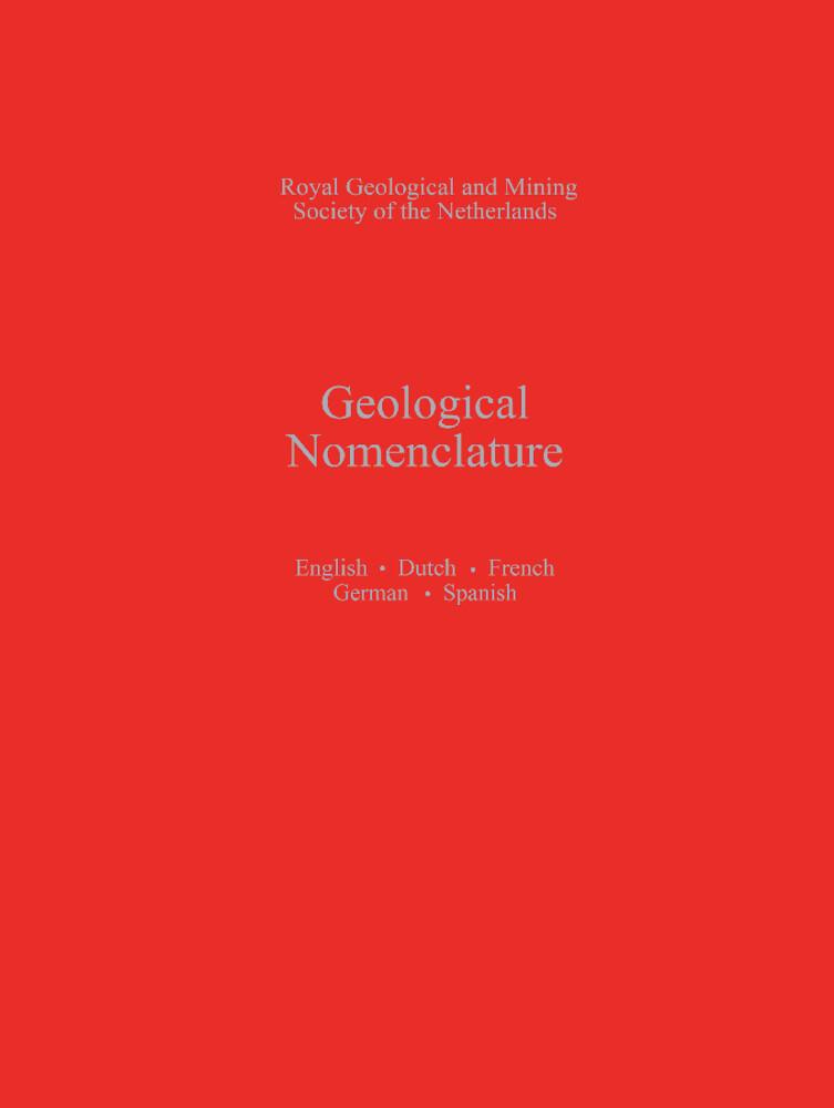 Geological Nomenclature als Buch (gebunden)