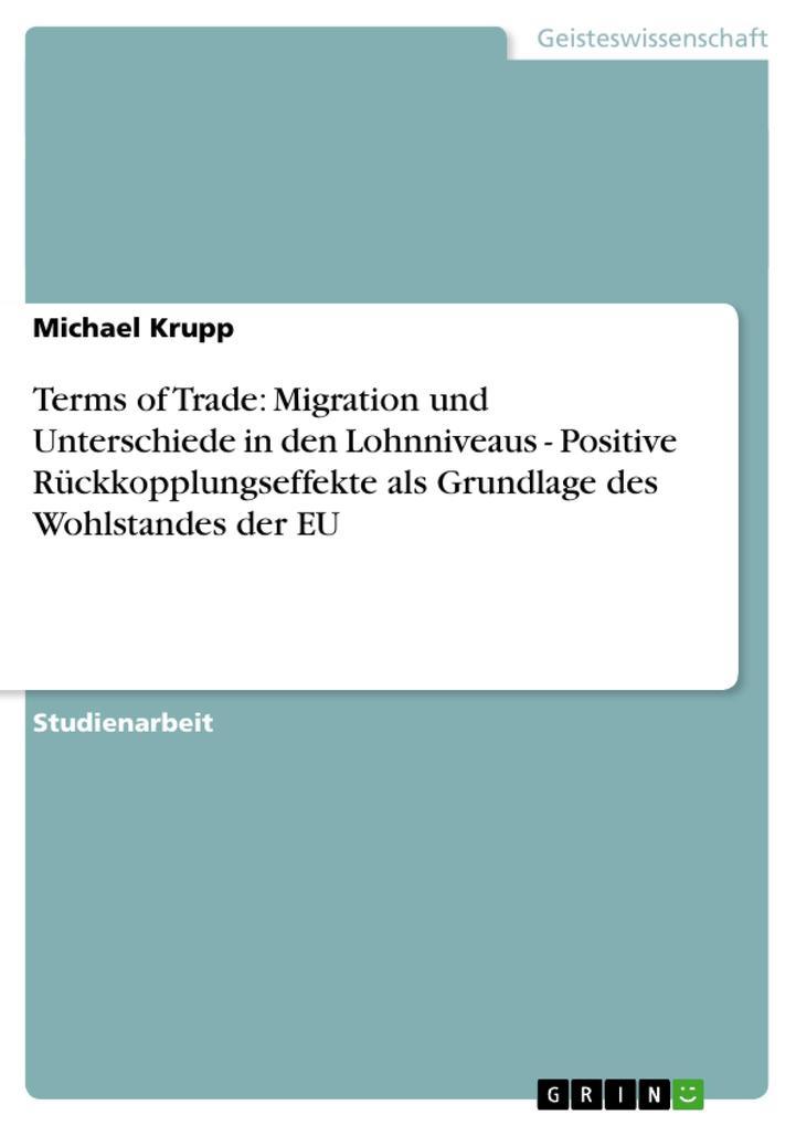 Terms of Trade: Migration und Unterschiede in den Lohnniveaus - Positive Rückkopplungseffekte als Gr als Taschenbuch