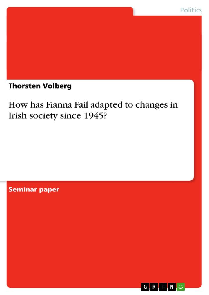How has Fianna Fail adapted to changes in Irish society since 1945? als Buch (kartoniert)