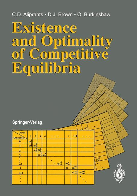 Existence and Optimality of Competitive Equilibria als Buch (gebunden)