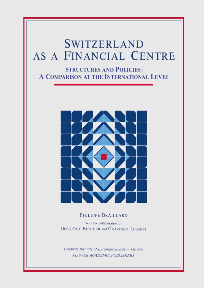 Switzerland as a Financial Centre als Buch (gebunden)