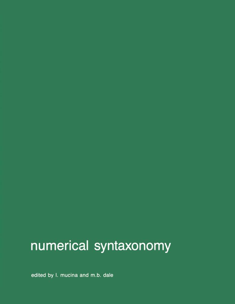 Numerical syntaxonomy als Buch (gebunden)