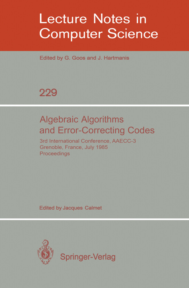 Algebraic Algorithms and Error-Correcting Codes als Buch (kartoniert)