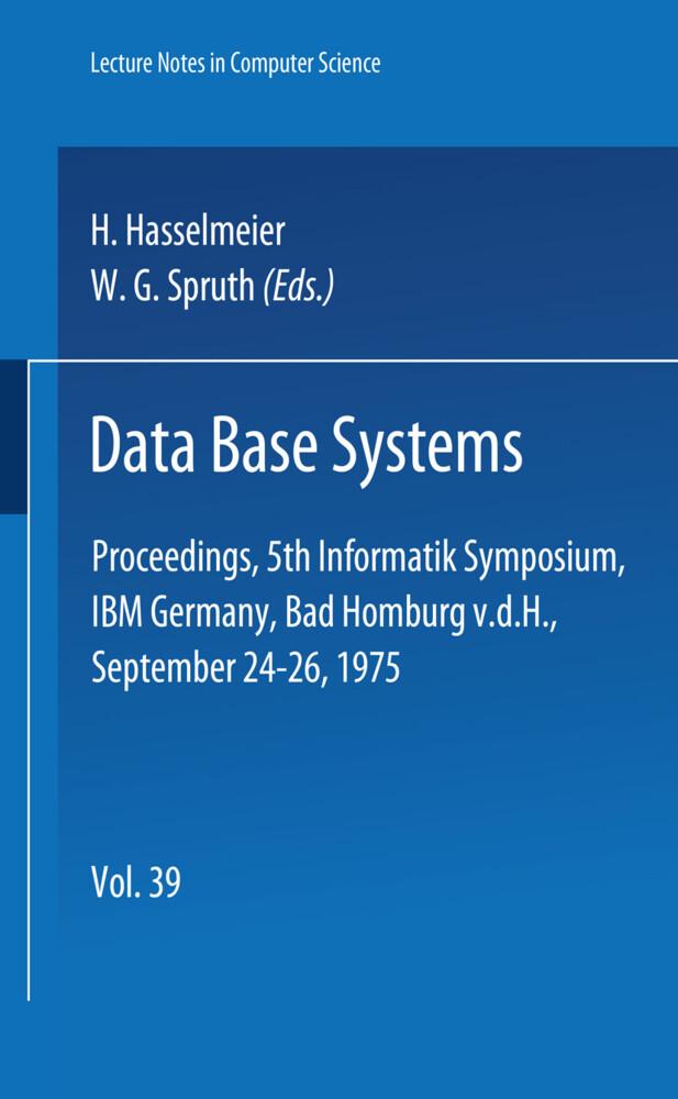 Data Base Systems als Buch (kartoniert)