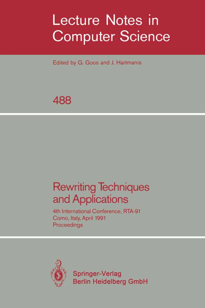 Rewriting Techniques and Applications als Buch (kartoniert)