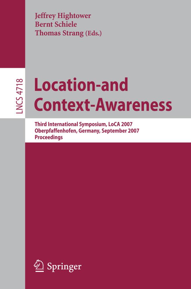Location- and Context-Awareness als Buch (kartoniert)