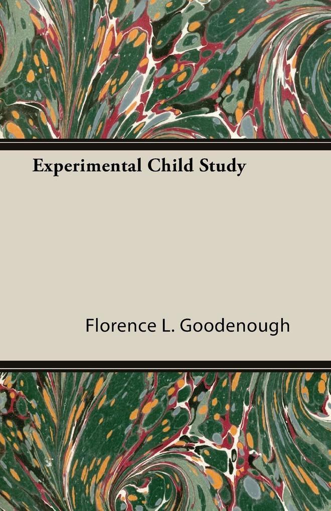Experimental Child Study als Taschenbuch