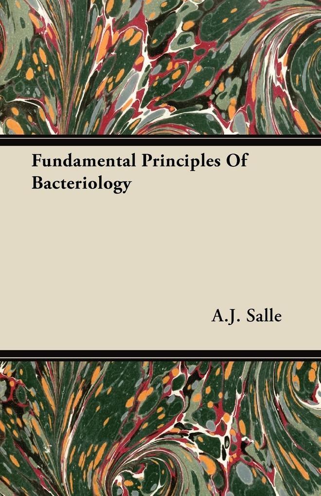 Fundamental Principles of Bacteriology als Taschenbuch