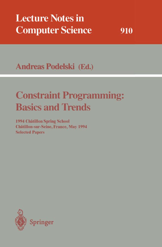 Constraint Programming: Basics and Trends als Buch (kartoniert)