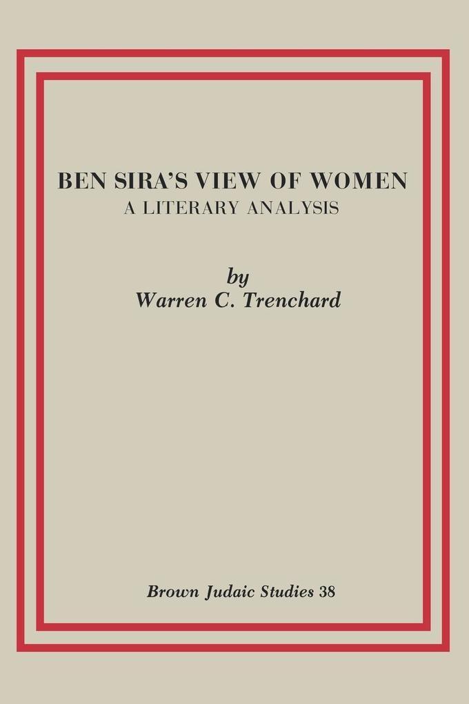 Ben Sira's View of Women als Taschenbuch