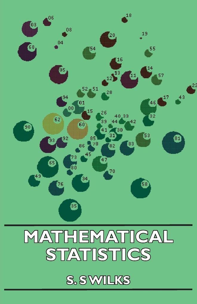 Mathematical Statistics als Buch (kartoniert)