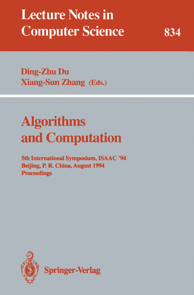 Algorithms and Computation als Buch (kartoniert)