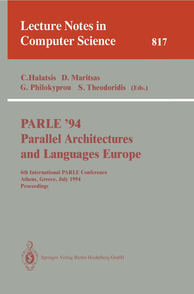 PARLE '94 Parallel Architectures and Languages Europe als Buch (kartoniert)