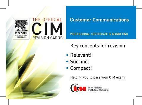 CIM Revision Cards: Customer Communications in Marketing 05/06 als Buch (gebunden)