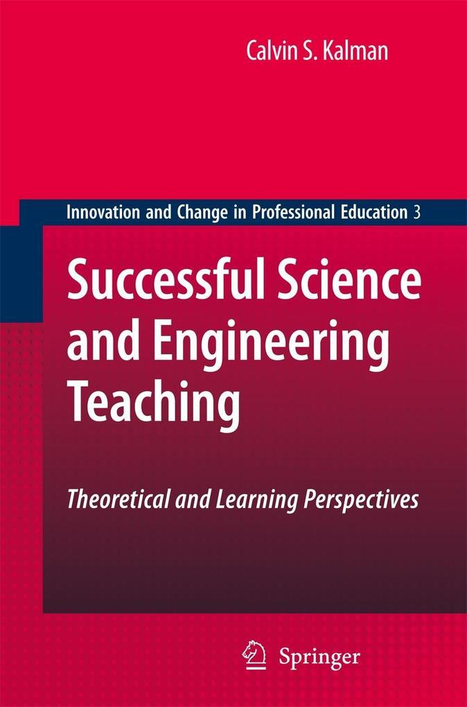 Successful Science and Engineering Teaching: Theoretical and Learning Perspectives als Buch (gebunden)