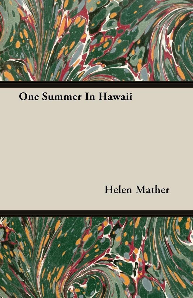One Summer In Hawaii als Taschenbuch