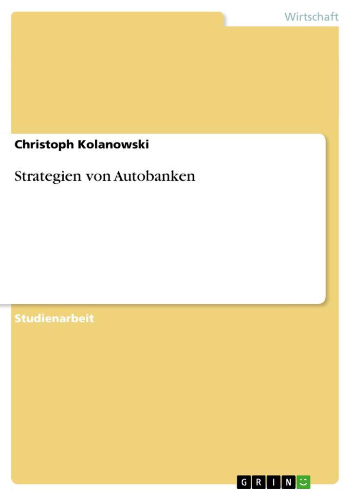 Strategien von Autobanken als Buch (kartoniert)