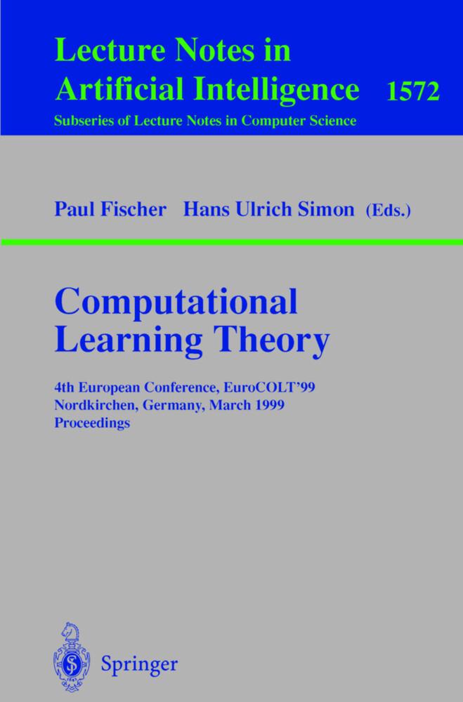 Computational Learning Theory als Buch (kartoniert)