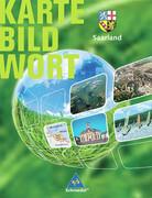 Saarland. Karte Bild Wort. Grundschulatlas. Schülerband