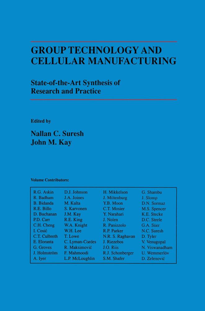 Group Technology and Cellular Manufacturing als Buch (gebunden)