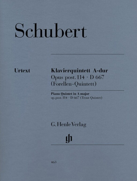 Quintett A-dur op. post. 114 D 667 für Klavier, Violine, Viola, Violoncello und Kontrabass [Forellenquintett] als Buch (kartoniert)