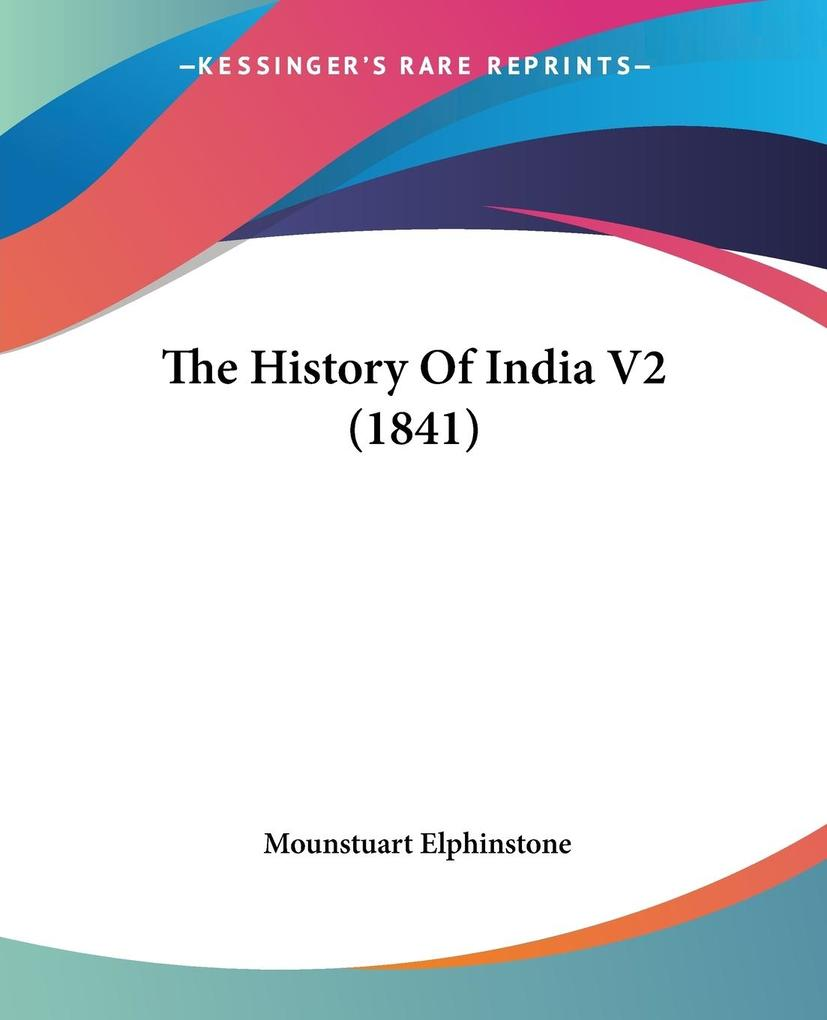 The History Of India V2 (1841) als Taschenbuch