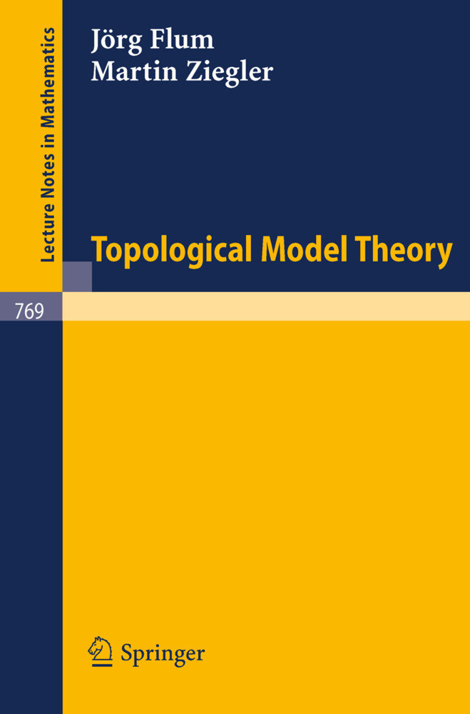 Topological Model Theory als Buch (kartoniert)