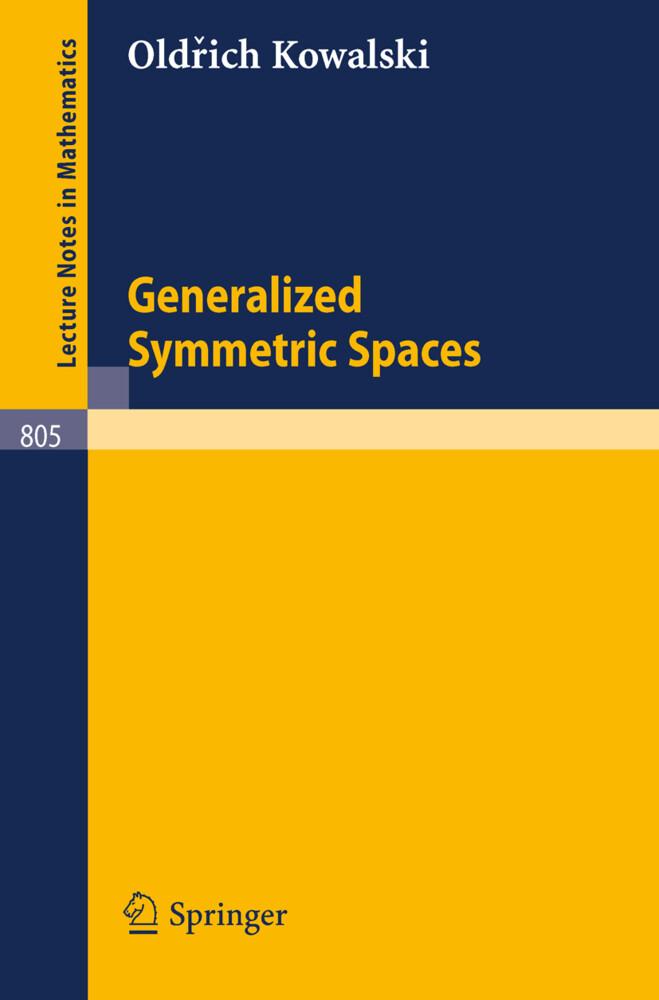 Generalized Symmetric Spaces als Buch (kartoniert)