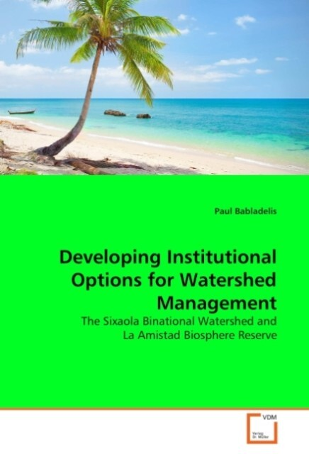 Developing Institutional Options for Watershed Management als Buch (kartoniert)