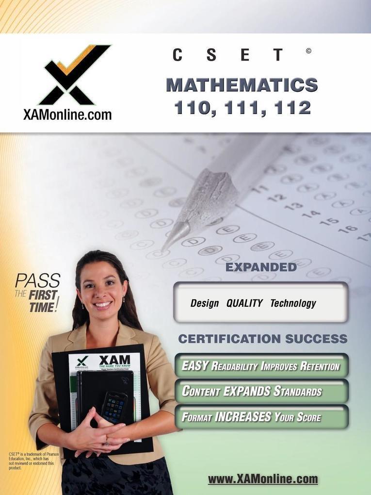 CSET Mathematics 110, 111, 112: Teacher Certification Exam als Taschenbuch