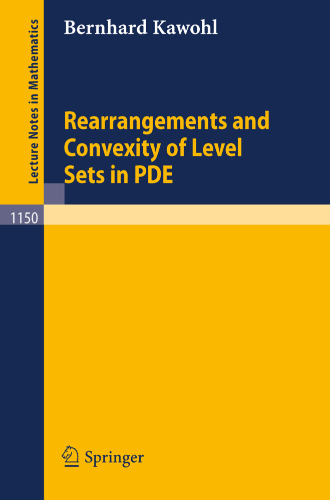 Rearrangements and Convexity of Level Sets in PDE als Buch (kartoniert)