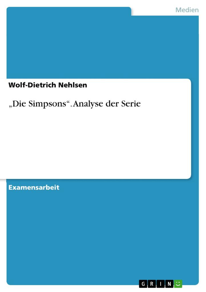 """""""Die Simpsons"""". Analyse der Serie als Buch (kartoniert)"""
