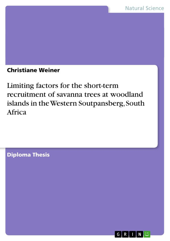 Limiting factors for the short-term recruitment of savanna trees at woodland islands in the Western Soutpansberg, South Africa als Taschenbuch