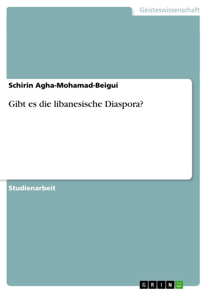 Gibt es die libanesische Diaspora? als Buch (kartoniert)