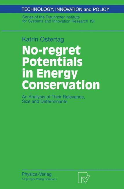 No-regret Potentials in Energy Conservation als Buch (kartoniert)