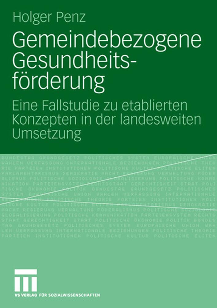 Gemeindebezogene Gesundheitsförderung als Buch (kartoniert)
