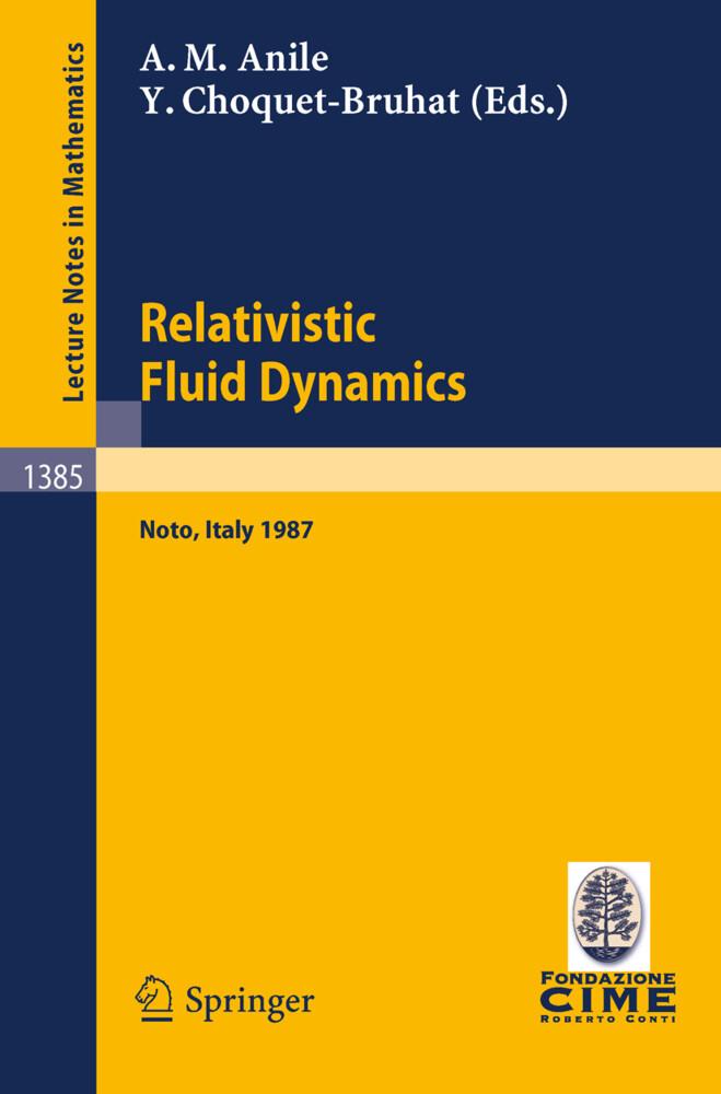 Relativistic Fluid Dynamics als Buch (kartoniert)