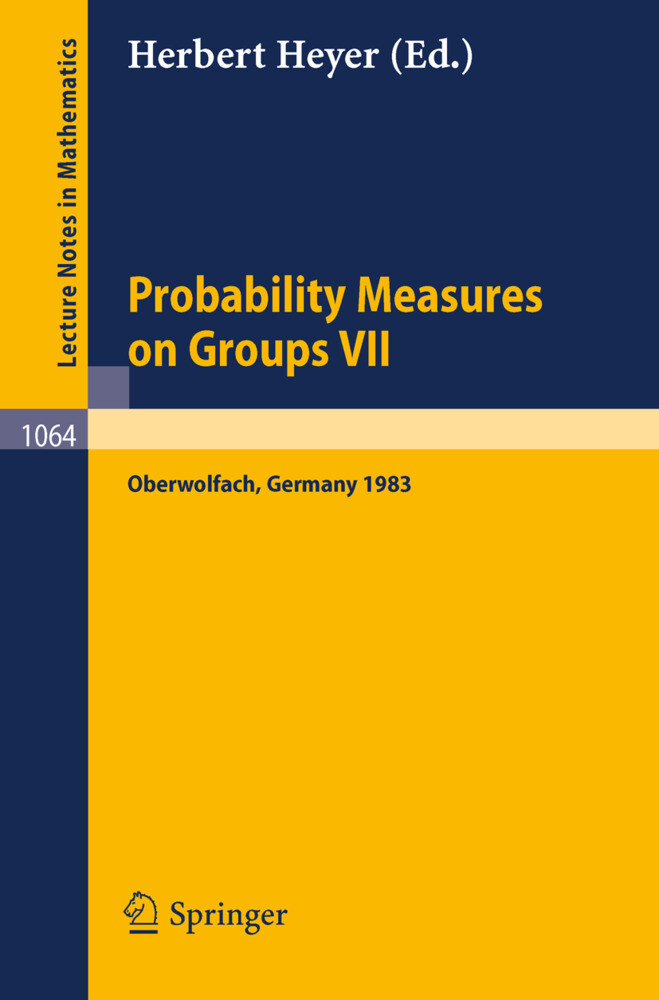 Probability Measure on Groups VII als Buch (kartoniert)