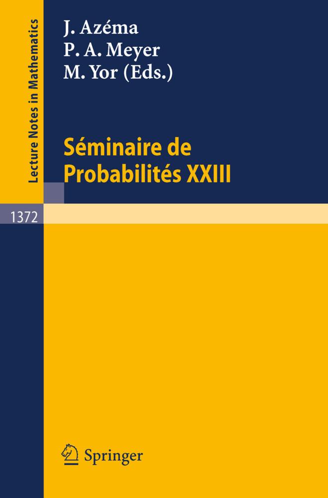 Seminaire de Probabilites XXIII als Buch (kartoniert)