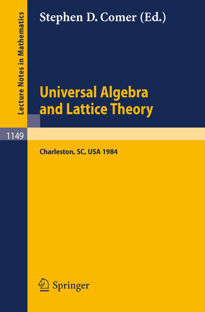 Universal Algebra and Lattice Theory als Buch (kartoniert)