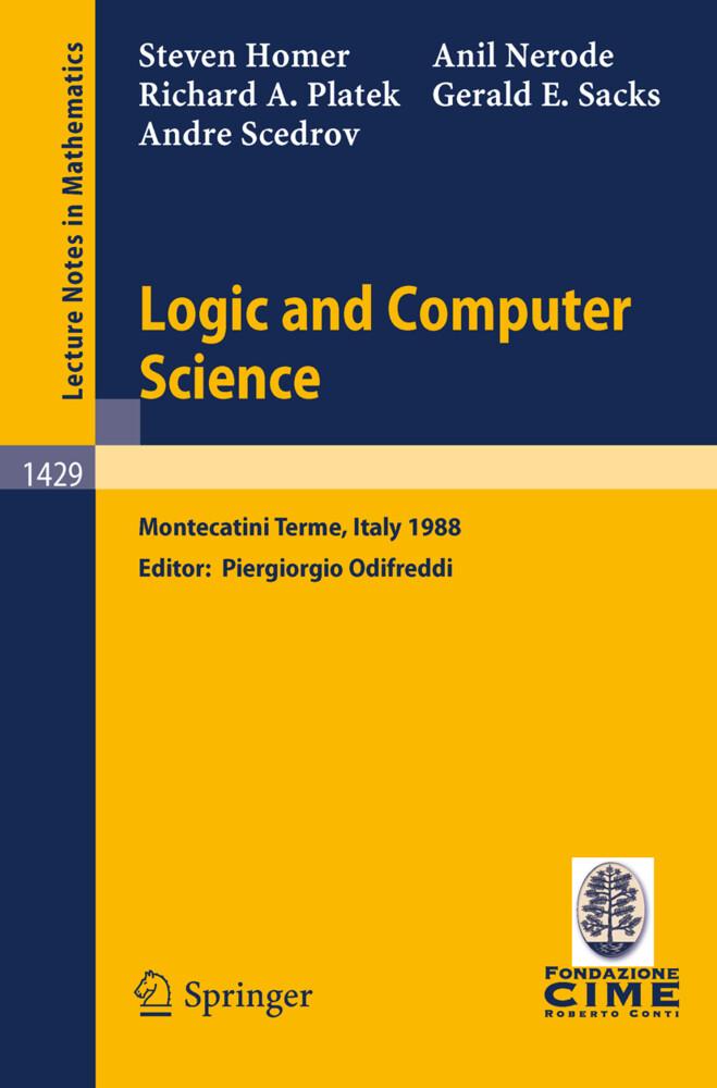 Logic and Computer Science als Buch (kartoniert)