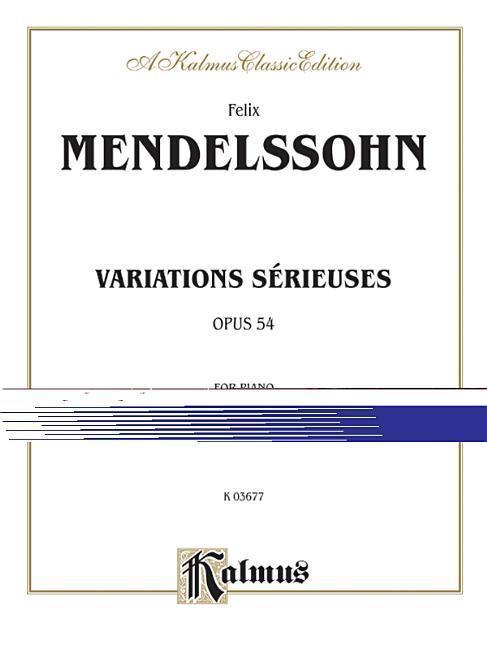 Variations Serieuses, Op. 54 als Taschenbuch